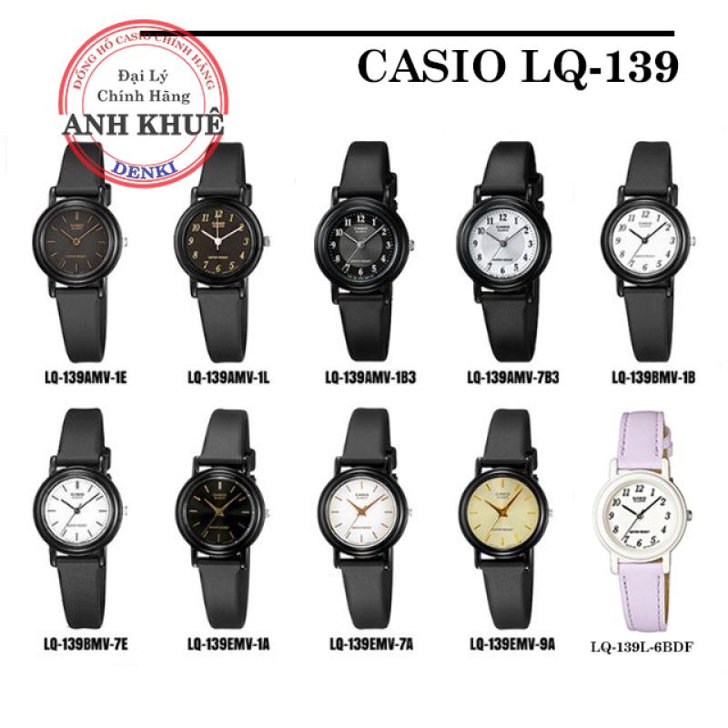 [FULL 9 MÀU] Đồng hồ nữ dây nhựa Casio chính hãng Anh Khuê LQ-139 đa dạng mẫu mã nhỏ xinh