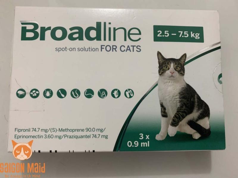 Tuýp nhỏ gáy dành cho mèo cưng của bạn Broadline 2,5-7,5kg (1 tuýp)
