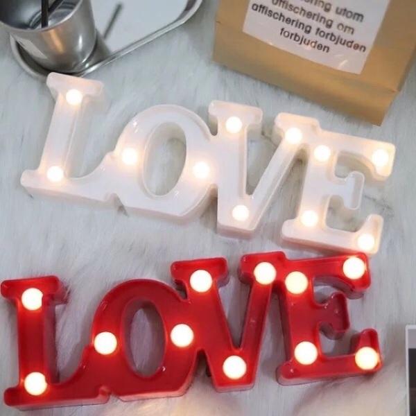Bảng giá Chữ love gắn đèn led dễ thương