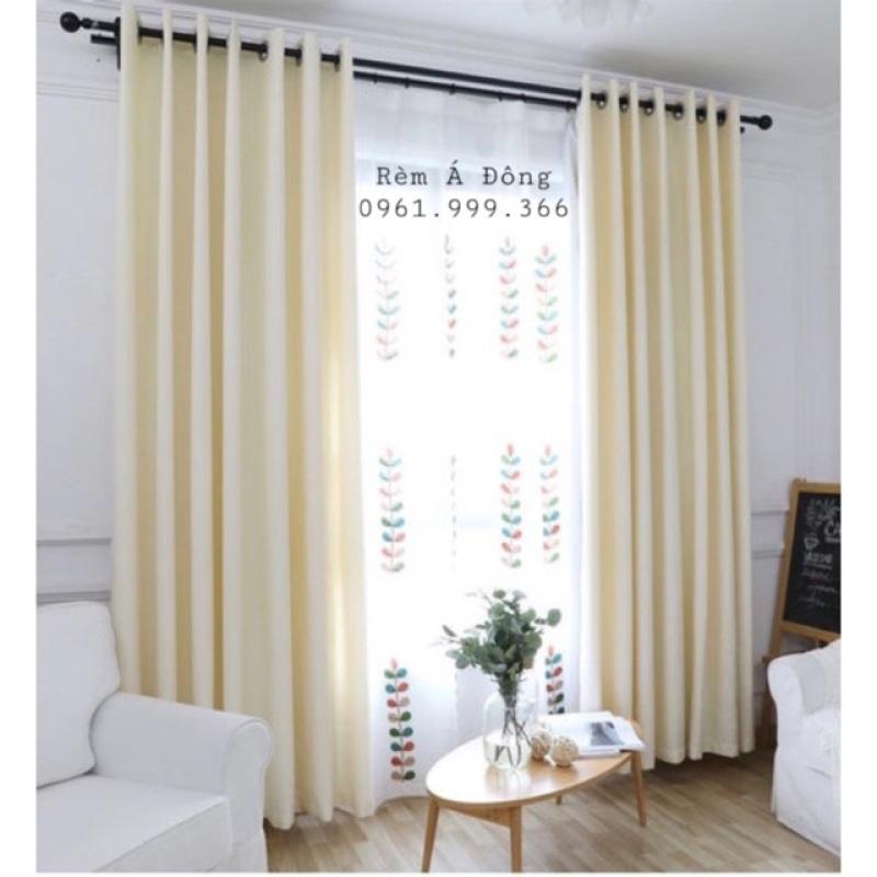 Rèm vải thô màu kem sáng nhẹ nhàng rèm cửa trang trí phòng khách phòng ngủ , sản phẩm tốt, chất lượng cao, cam kết sản phẩm nhận được như hình