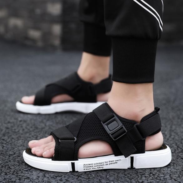 Dép sandal nam học sinh sinh viên đế êm vải thoáng khí khử mùi kiểu dáng thời trang - có thể tháo quai hậu giá rẻ