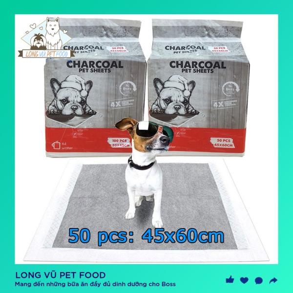 Tấm lót vệ sinh chó mèo than hoạt tính Charcoal - Long Vũ Pet Food