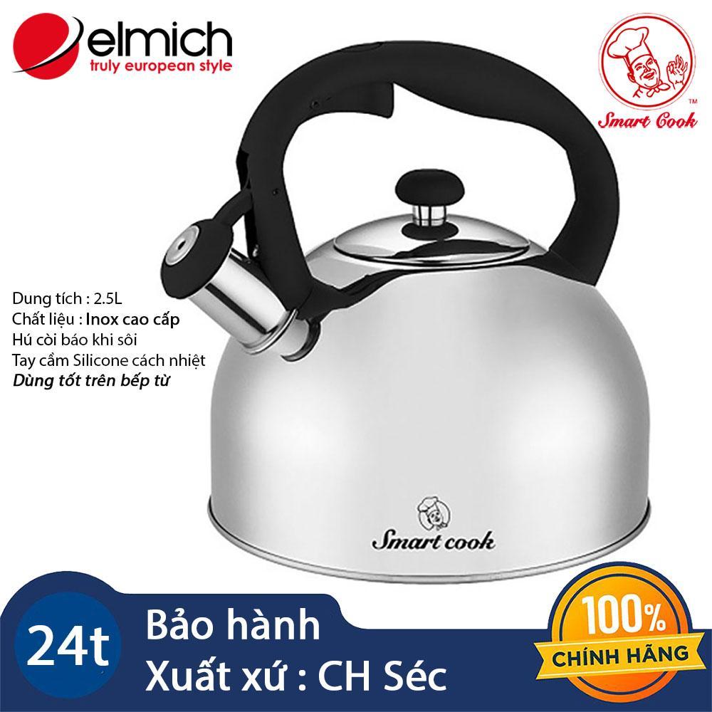 Ấm đun nước inox cao cấp Elmich Smartcook 2.5L SM3374 hàng chính hãng, bảo hành 12 tháng