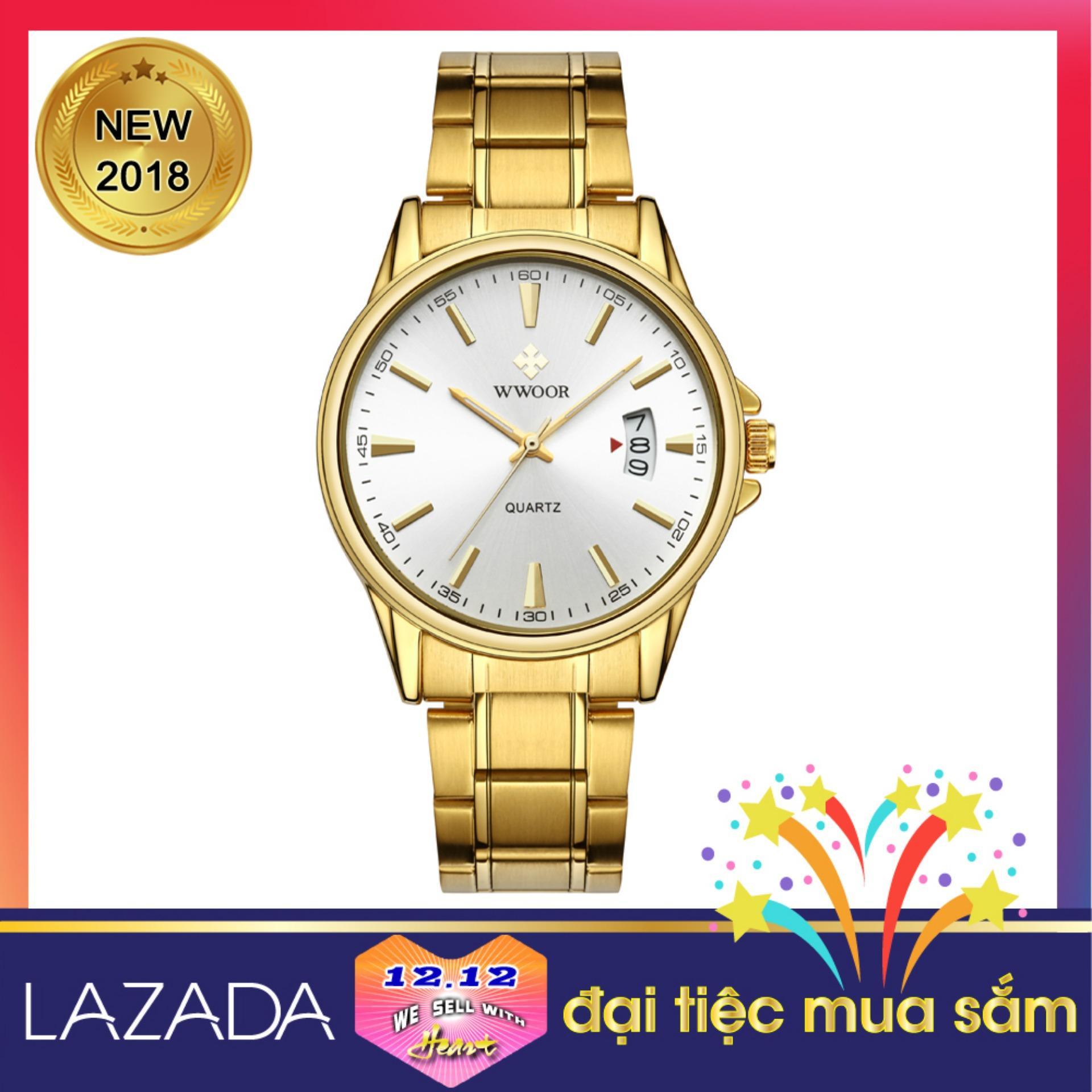 Nơi bán Đồng hồ đeo tay nam đẹp mẫu mới 2018 WWOOR 8833
