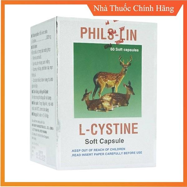 1 Hộp 60 Viên L Cystine Phil Interma L Cystin nhập khẩu