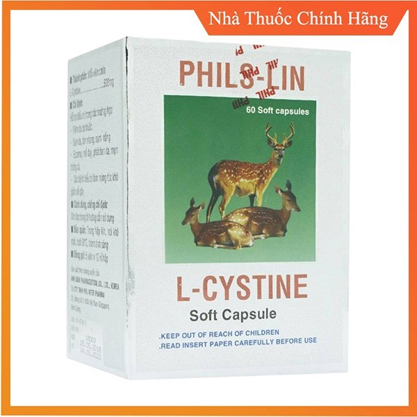 1 Hộp 60 Viên L Cystine Phil Interma L Cystin