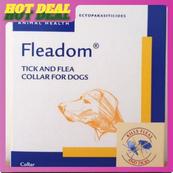 Vòng đeo cổ trị ve và bọ chét cho chó mèo - Nhãn hiệu Fleadom.