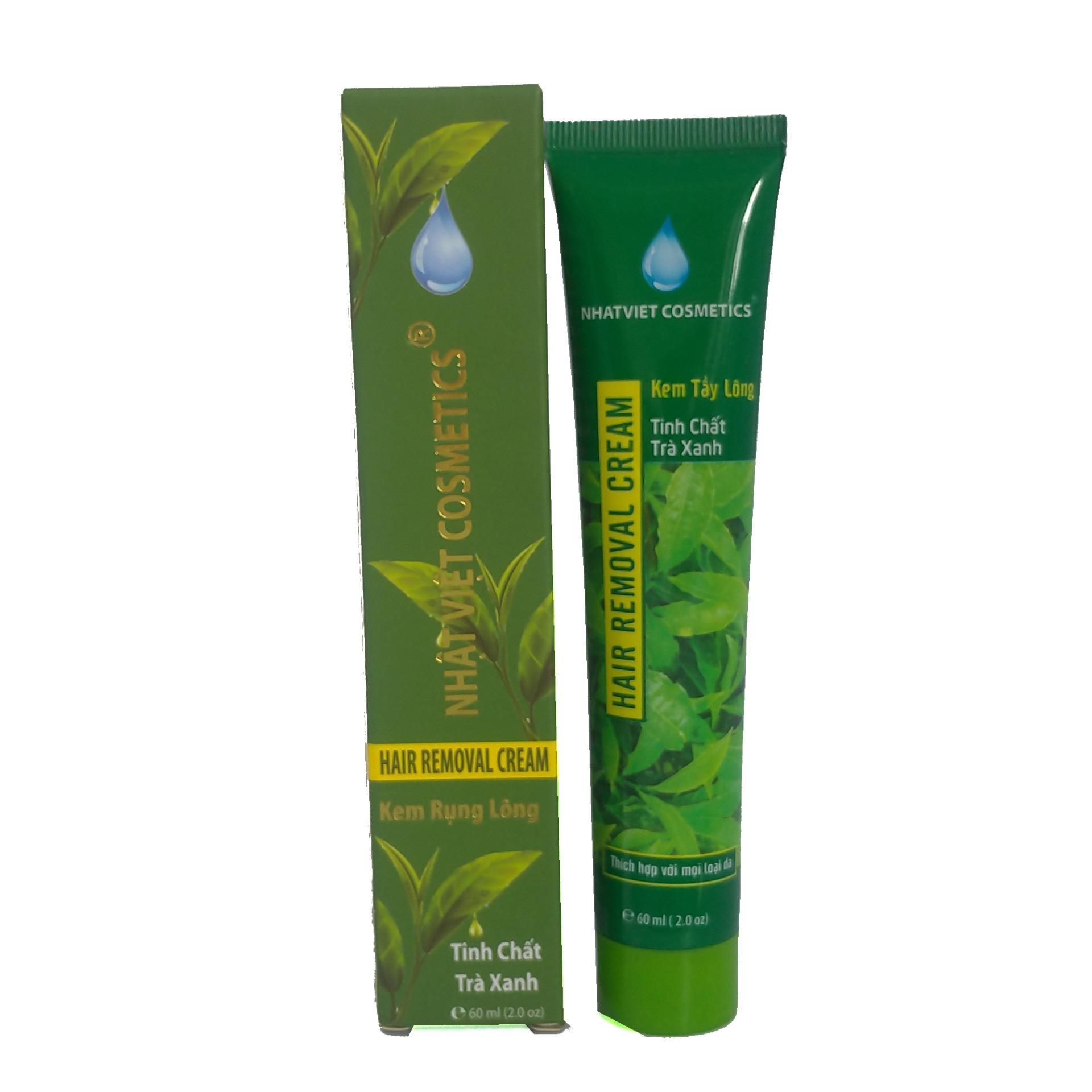 Kem rụng lông tinh chất Trà xanh Nhật Việt 60ml (Xanh) nhập khẩu