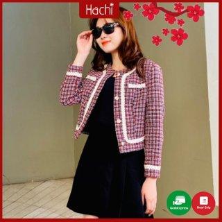 Áo dạ, Áo khoác blazer lửng nữ thời trang, Hàng cao cấp Hachidesigns thumbnail