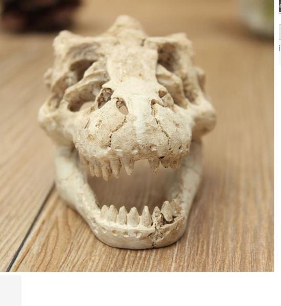 Tượng đầu khủng long trang trí bể cá tiểu cảnh