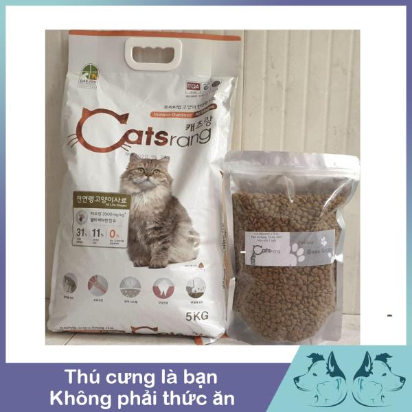 Hạt khô cho mèo - Thức ăn cho mèo mọi lứa tuổi Catsrang 5kg (Nhập khẩu Hàn Quốc)