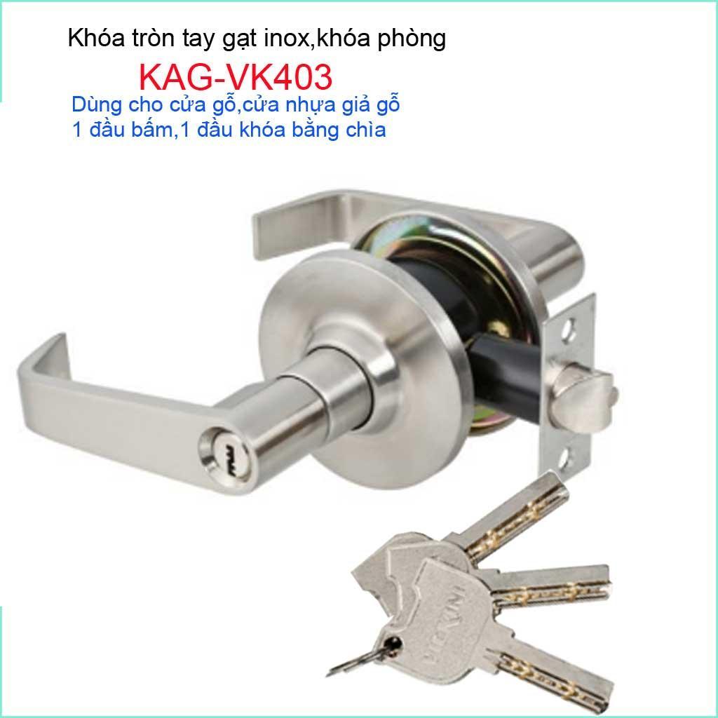 Khóa cửa phòng tay gạt, khóa cửa Vickini KAG-VK403