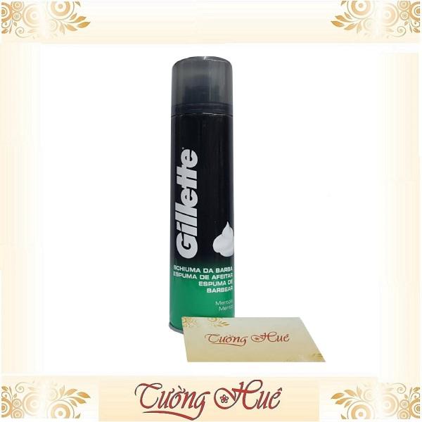 Bọt cạo râu Gillette hương Bạc Hà- 300ml - Xanh Lá