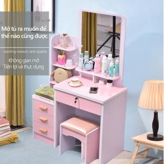 Bàn trang điểm tủ lưu trữ đơn giản hiện đại sang trọng nhẹ trong phòng ngủ Bàn trang điểm kèm kệ để đồ tiện lợi thumbnail