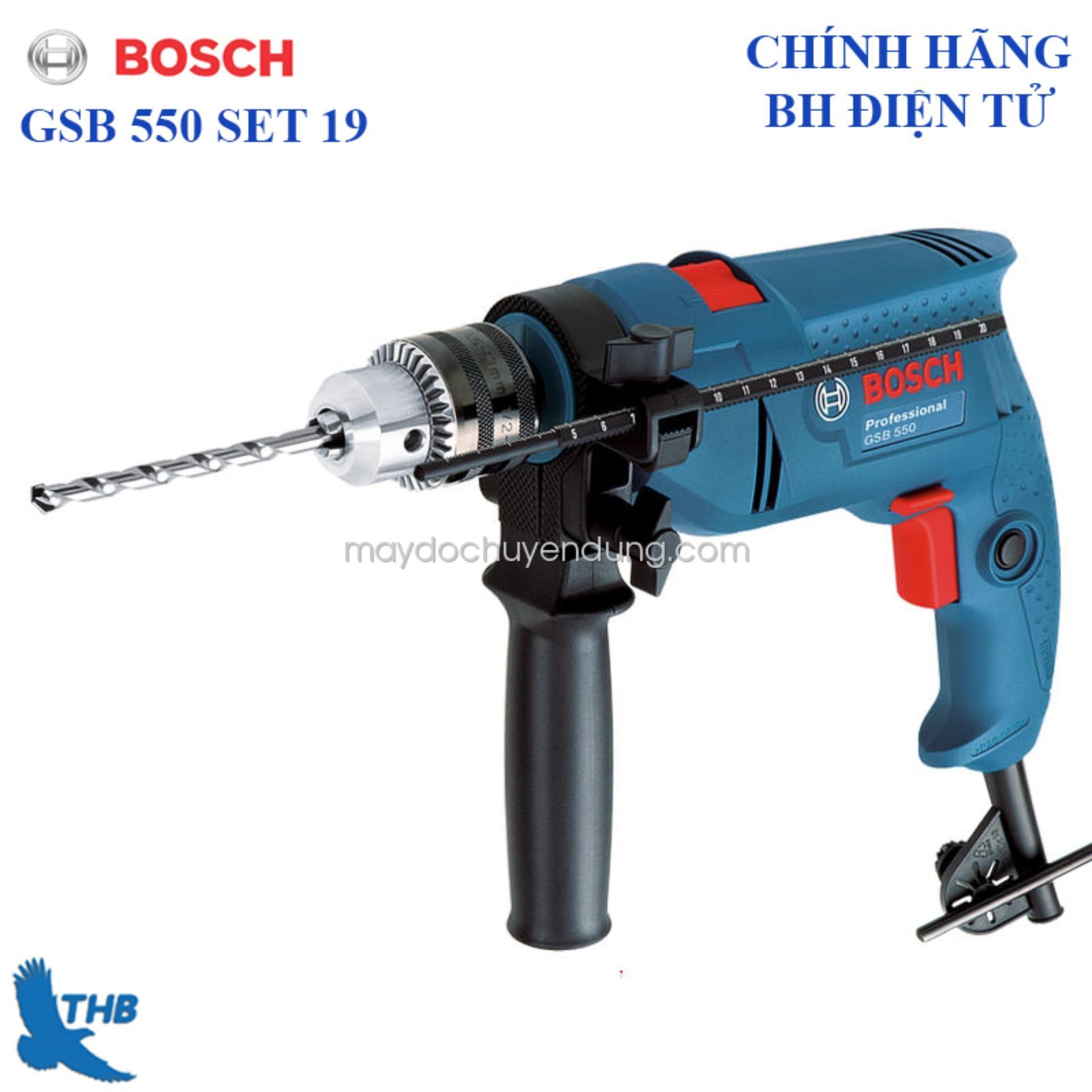 Bộ máy khoan động lực Bosch GSB 550 Set 19 Món