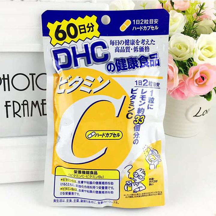 Viên uống DHC Vitamin C làm đẹp da Nhật Bản 60 ngày 120 viên - Tăng cường hệ miễn dịch, ngăn ngừa lão hóa nhập khẩu