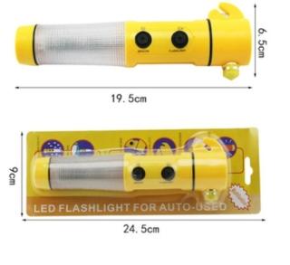 [Flash Sale] Búa thoát hiểm đa năng NP26 có đèn pin+ kèm khăn lau xe hơi cao cấp thumbnail