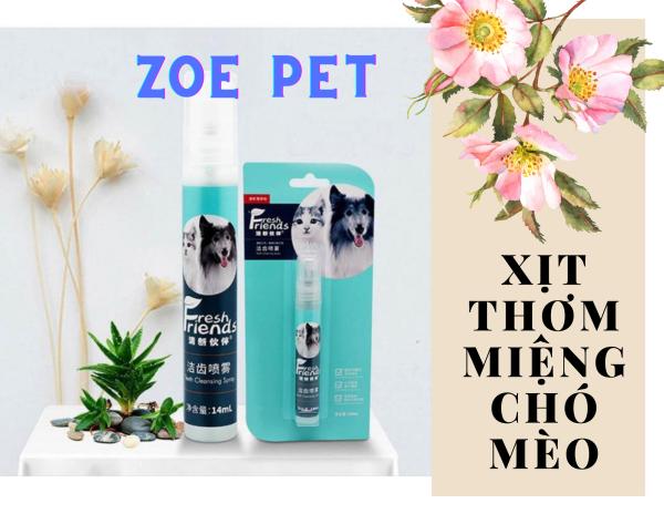Xịt Thơm Miệng FRESH FRIENDS Cho Chó Mèo 14ml, giúp chó mèo có hơi thở thơm, loại bỏ mùi hôi