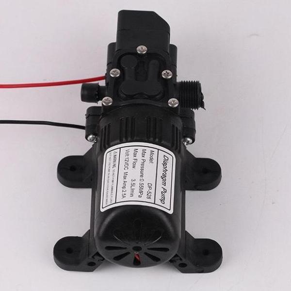 máy bơm mini tăng áp lực nước 12v dùng cho phun sương - rửa máy lạnh