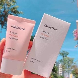 Kem Chống Nắng Innisfree Tone Up No Sebum Sunscreen SPF35 PA++++ 50ml, Kem Chống Nắng Nâng Tone, Kiềm Dầu Hàn Quốc thumbnail