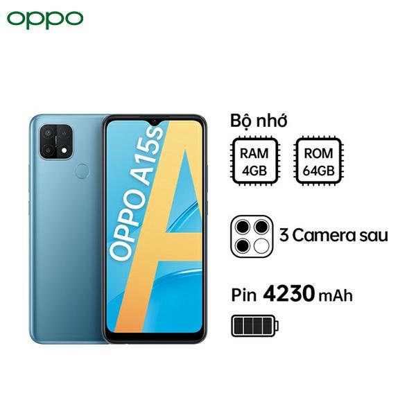 Điện thoại OPPO A15s - Hàng chính hãng