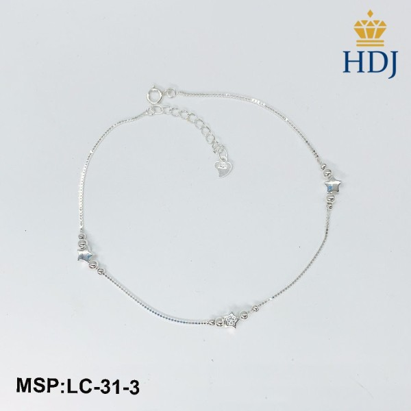 Lắc chân bạc nữ Hình Ngôi sao may mắn sang trọng trang sức cao cấp HDJ mã LC-31-3