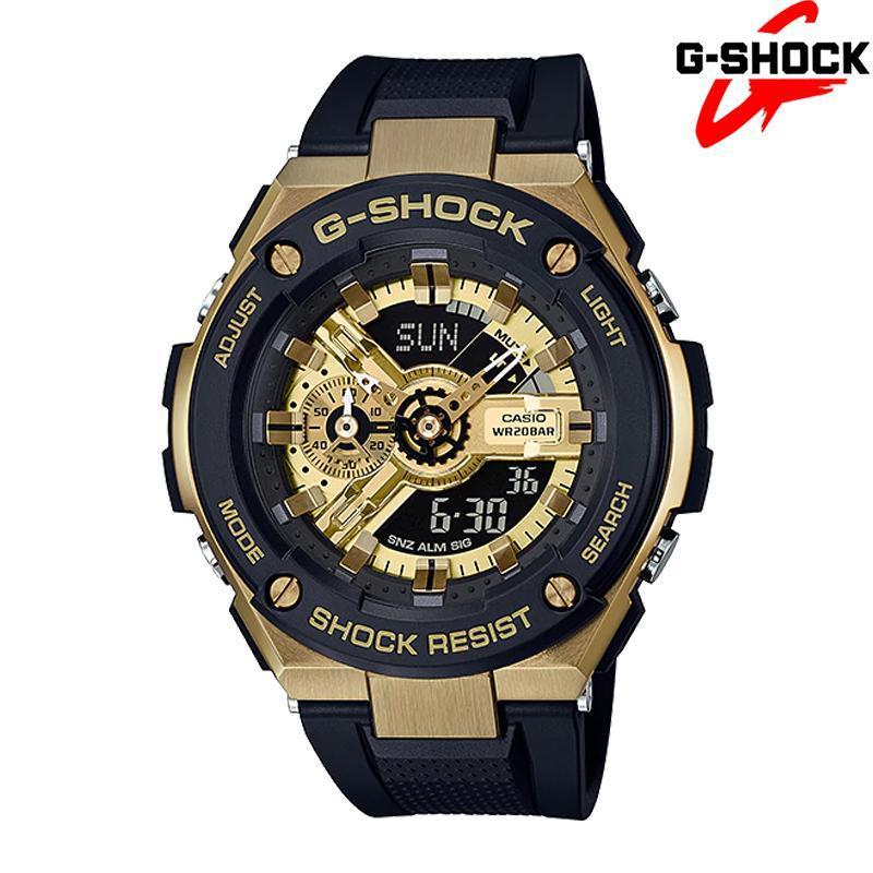 Đồng hồ nam dây cao su G-SHOCK GST-400G-1A9 đồng hồ bấm giờ với khả năng định thời lên tới 1.000 giờ và khả năng chống từ ISO764