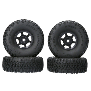 SENT AUSTAR AX-2020WH 4PCS RC Tires 1.55 95 35mm Beadlock Wheel Rim Rubber Tyre for 1 10 RC Buggy Off-Road Car RC Crawler Compatible with Pajero TF2 CC01 CC02 LC70 LC80 D90 thumbnail