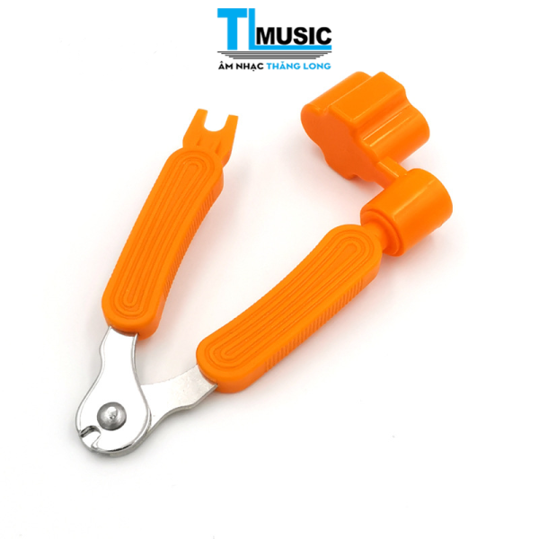 Dụng cụ thay dây đàn guitar đa năng 3 trong 1- Kiềm cắt dây (Cutter) + Tay quay lên dây (Winder) + Nhổ chốt (Pin puller)