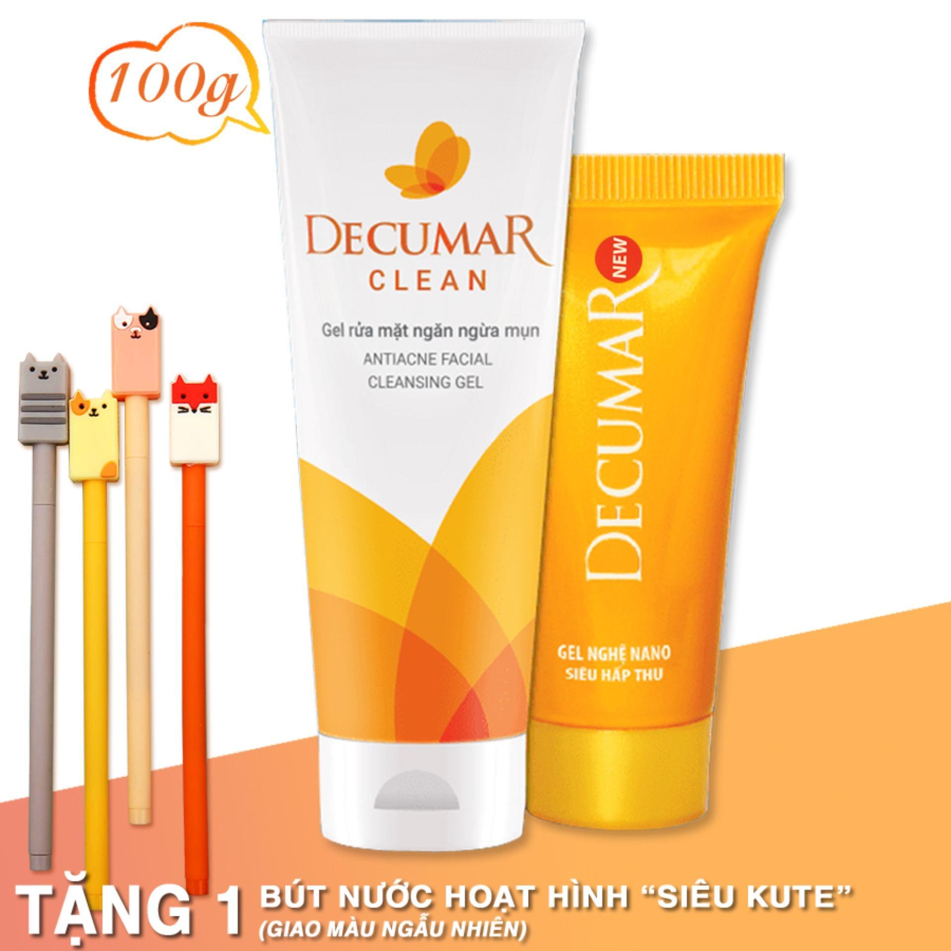Bộ đôi trị mụn hiệu quả Decumar 20g - Decumar Clean 100g - kem trị mụn, kem trị thâm, kem nghệ decumar, sữa rửa mặt decumar clean nhập khẩu
