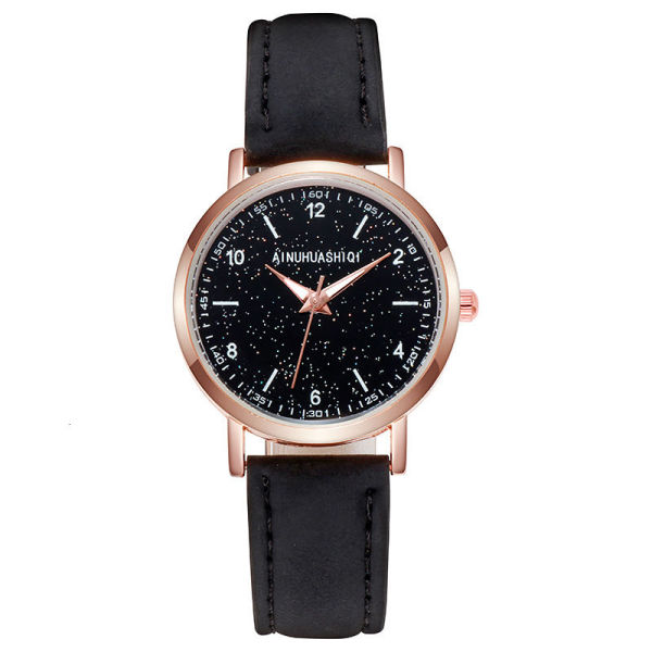 New star night watch womens frosted leather watch with ultra thin quartz watch for women GFAZ Malaysia