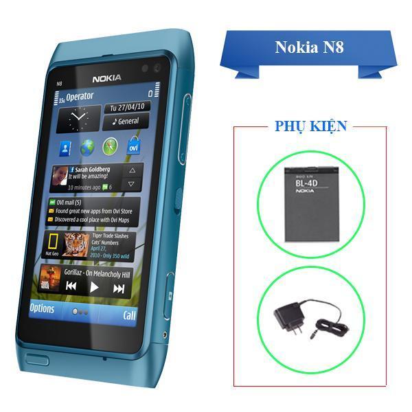 Điện thoại cảm ứng cổ điển Nokia N8 màn hình OLED siêu nét