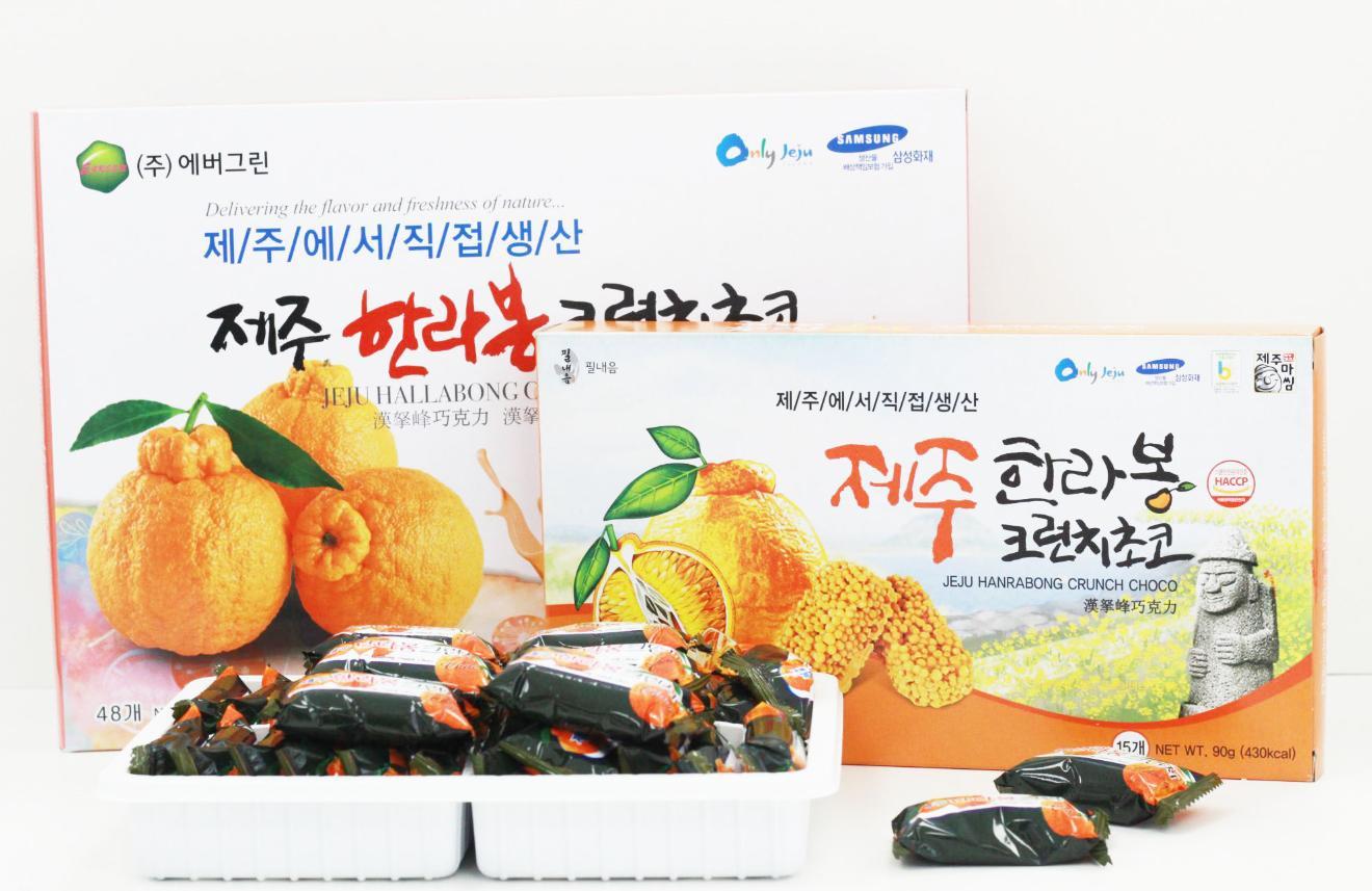 BÁNH NGŨ CỐC Jeju Hallabong Crunch Choco (48 cái)