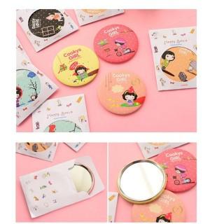 Gương mini trang điểm mặt tròn hàn quốc siêu cute thumbnail