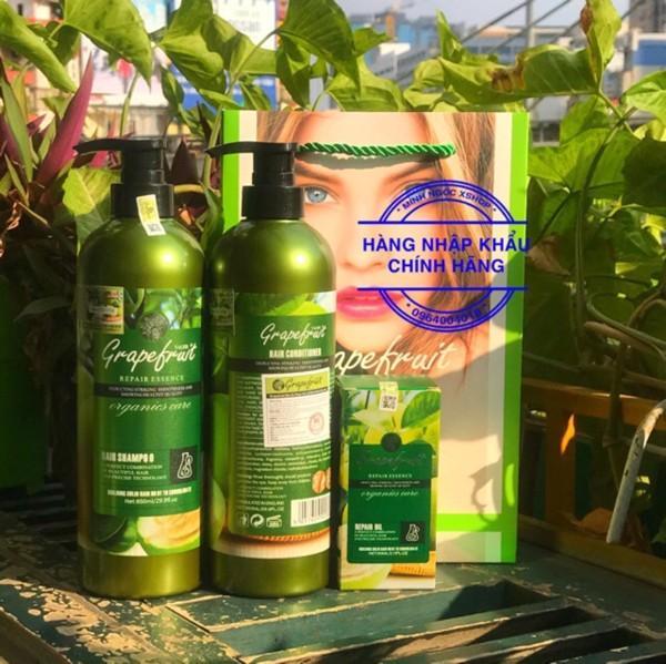 Cặp dầu gội xả Chiết xuất từ vỏ Bưởi thiên nhiên.ngăn ngừa rụng tóc