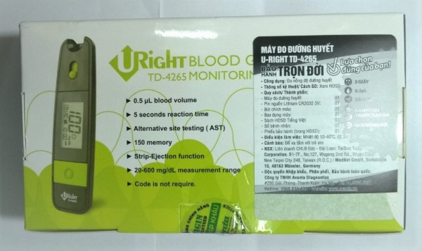 Nơi bán Máy đo đường huyết Uright TD-4265