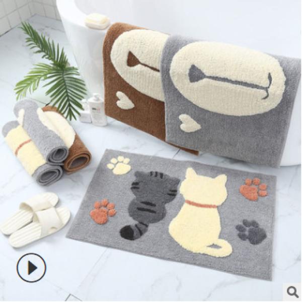 Thảm chùi chân, thảm lau chân nhà tắm, nhà vệ sinh, cửa ra vào lông cừu cao cấp - Chống trượt - thấm hút tốt