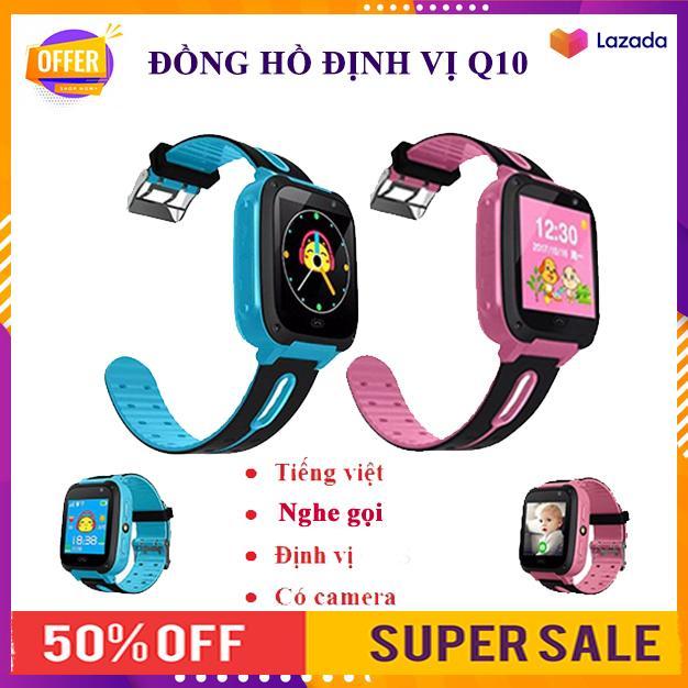Đồng hồ định vị trẻ em Q10, đồng hồ thông minh, màn hình màu cảm ứng hỗ trợ thẻ sim, quay số SOS,có Camera, giao diện tiếng việt