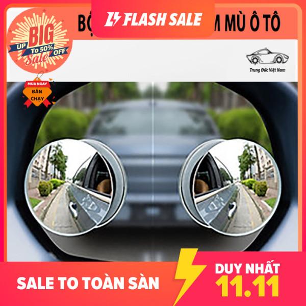 Bộ 2 gương lồi tràn viền xoay 360 độ gắn cho kính gương chiếu hậu tránh điểm mù cho xe hơi, xe ô tô