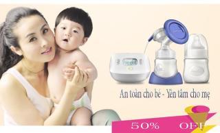 Máy hút sữa mẹ Amama-Thiết kế cho sữa chảy trực tiếp từ phễu silicon vào bình sữa-giảm cơn đau tức ngực do đầy sữa-An toàn cho mẹ và bé-,sản phẩm không thể thiếu đối với mẹ thông thái sale sốc 50%, giao hàng toàn quốc tại May Store 4