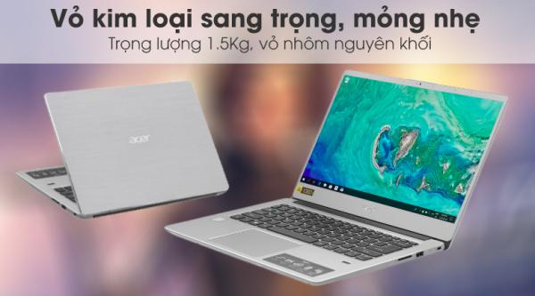Bảng giá Acer Swift SF314 54 38J3 i3 8130U/4GB/1TB/14F/Win10/(NX.GXZSV.005)/Bạc Phong Vũ
