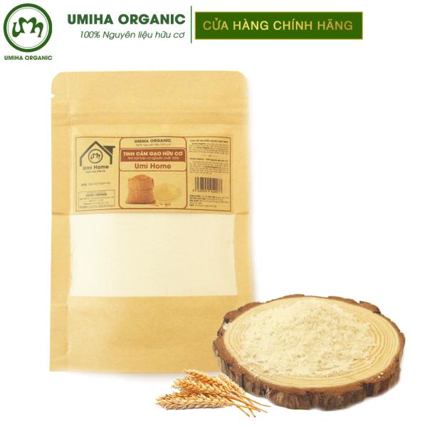 Tinh bột Cám Gạo hữu cơ UMIHOME nguyên chất túi Zip 35g - Dùng tẩy da chết sạch sâu da, đắp mặt, dưỡng da trắng mịn
