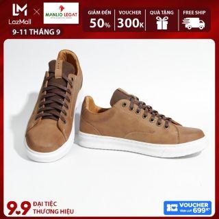 Giày Sneaker nam da thật Manlio Legat màu nâu sáp G6351-BN-01 thumbnail