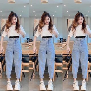 Quần baggy jean, quần bò chất vải cao cấp chất lượng thời trang trẻ trung lưng cao 1990STORE MS06 thumbnail