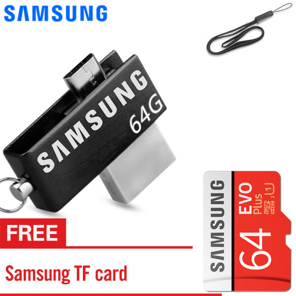 Giá SAMSUNG 64GB OTG USB Flash Drive Smartphone External Usb Stick Pen Drive Memory Stick U Disk for Android PC with free Samsung memory card 64GB