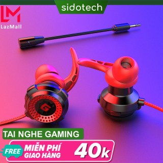 Tai nghe chơi game điện thoại SIDOTECH G11 Plus có mic 360 độ kèm bao da jack 3.5mm tích hợp chuyên dụng chơi game pug mobile tốc chiến lmht, liên quân trên điện thoại dành cho game thủ chuyên nghiệp thuộc dòng tai nghe gaming thumbnail