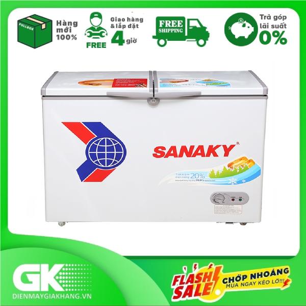 TRẢ GÓP 0% - Tủ đông dàn đồng Sanaky VH-2299A1- Bảo hành 12 tháng