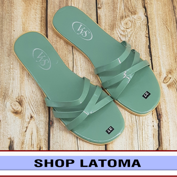 Dép lê bệt nữ 3 quai chéo đơn giản thoáng má xinh xắn thời trang Latoma TA3541 (Nhiều màu) giá rẻ