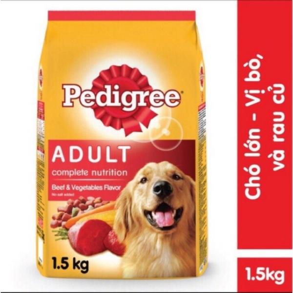 Thức ăn chó lớn vị bò và rau củ Pedigree 1.5kg, đa dạng mẫu mã, chất lượng sản phẩm đảm bảo và cam kết hàng đúng như mô tả
