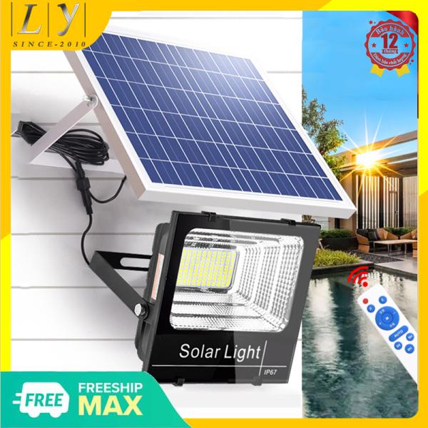 Bảng giá Bộ đèn Led pha năng lượng mặt trời công suất 100W - 200W - 300W công nghệ IP65 chống nước, chế độ bật tắt tự động, cảm biến hồng ngoại